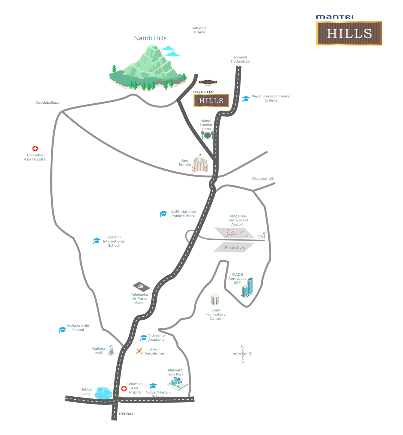 LocationMap Mantri HILLS
